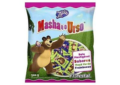 Bala de Maçã Verde e Framboesa Masha e o Urso Florestal Zollé 500g