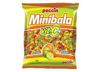 Minibala Vit.C (Limão, Morango, Laranja, Maracujá) Peccin 540g