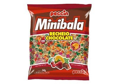 Minibala sortida recheio chocolate Peccin 540g