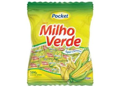 Bala de Milho Verde Pocket Riclan 500g