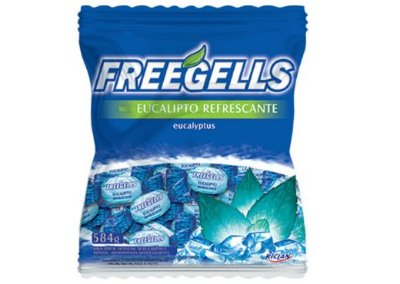Bala Freegells Eucalipto Refrescante Riclan 584g