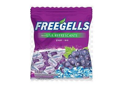 Bala Freegells Uva Refrescante Riclan 584g