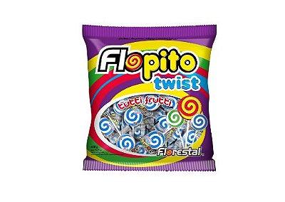 Pirulito Flopito Twist Azul Florestal 450g