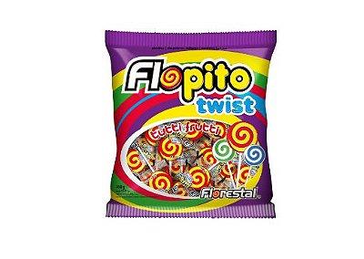 Pirulito Flopito Twist Vermelho Florestal 450g