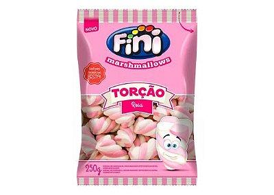 Marshmallow Fini Torção Rosa 250g