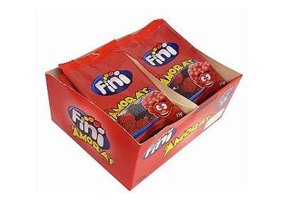 Bala de Gelatina Fini Amora 12 pacotes de 15g cada