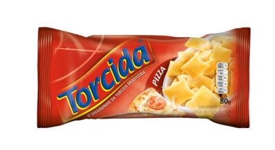 SALGADINHO TORCIDA SABOR PIZZA 3 UNIDADES DE 80g