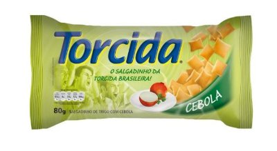 SALGADINHO TORCIDA SABOR CEBOLA 3 UNIDADES DE 80g