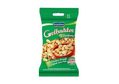 Amendoim Grelhaditos Torrado e Salgado sem Pele 3 Pacotes de 200g
