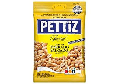 Amendoim Torrado Salgado sem Pele Pettiz Special Contendo 3 pacotes de 150g
