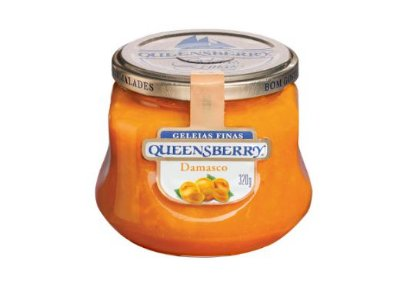Geleia Fina QueensBerry sabor Damasco 320g