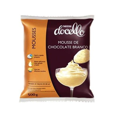 Mousse Nestle Chocolate Branco Docello 500g