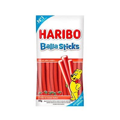 Bala Gelatina Haribo Balla Sticks Sabor Morango 80g