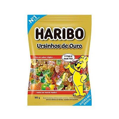 Bala Gelatina Haribo Ursinhos de Ouro 100G