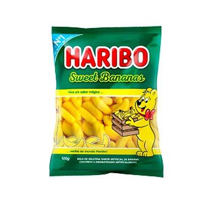Bala gelatina Haribo Sweet Bananas 100G