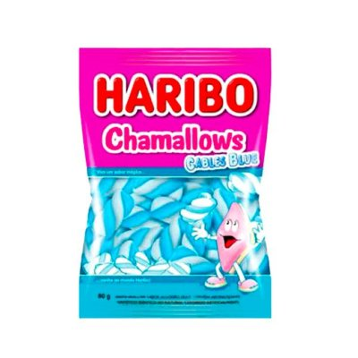 Marshmallow Haribo Chamallows Torção Cables Blue 80G