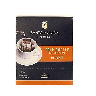 Café Gourmet Santa Monica Drip Coffee Gourmet Individual Contendo 10 Sachês