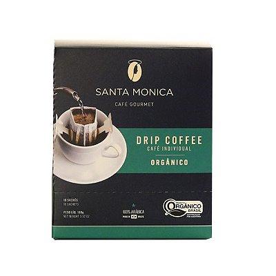Café Gourmet Santa Monica Drip Coffee Orgânico Individual Contendo 10 Sachês