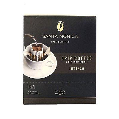 Café Gourmet Santa Monica Drip Coffee Intenso Individual Contendo 10 Sachês