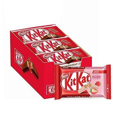 Kit Kat Morango contendo 24 unidades