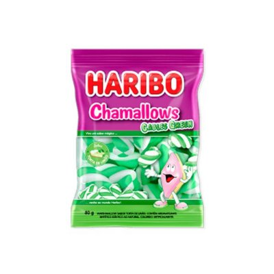 Marshmallow Haribo Chamallows Torção Cables Green 80g
