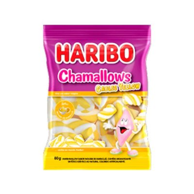 Marshmallow Haribo Chamallows Torção Cables Yellow 80g