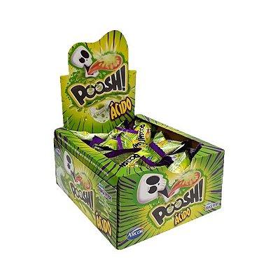 Chicle Poosh Ácido Caveira Maçã Verde contendo 200g (em torno de 40 unidades)