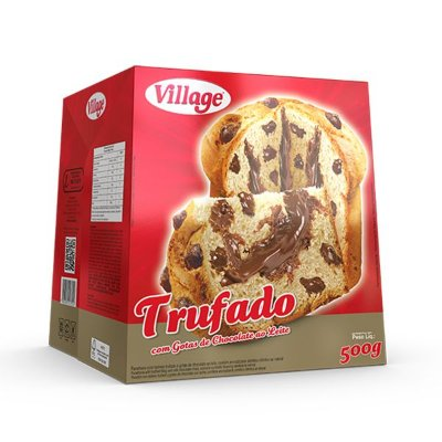 Chocotone Trufado com Gotas de Chocolate Village 500g