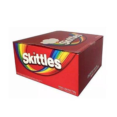 Bala Skittles contendo 12 pacotes de 61,5g