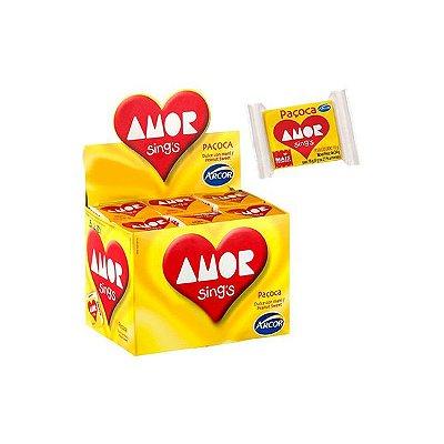 Paçoca Amor Arcor contendo 30 unidades
