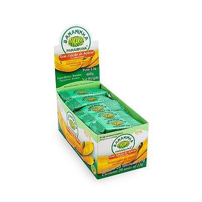 Bananinha Paraibuna COM Açúcar contendo 20 unidades de 36g cada