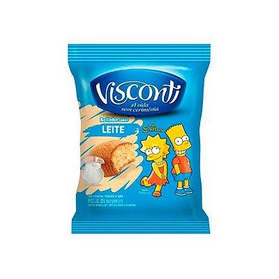 Bolinho Visconti Leite 30g contendo 14 unidades