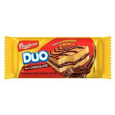 Bolinho Bauducco Duo Recheado Chocolate 27g contendo 15 unidades