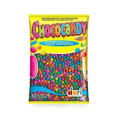 Confeitos sabor Chocolate Chococandy colorido Dori 500g
