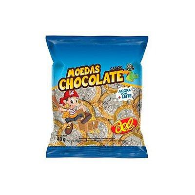 Moedas sabor Chocolate Bel 40g (10 moedas)