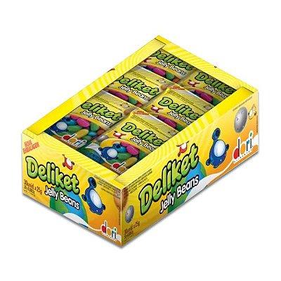 Deliket Jelly Beans Dori contendo 30 pacotes de 20g