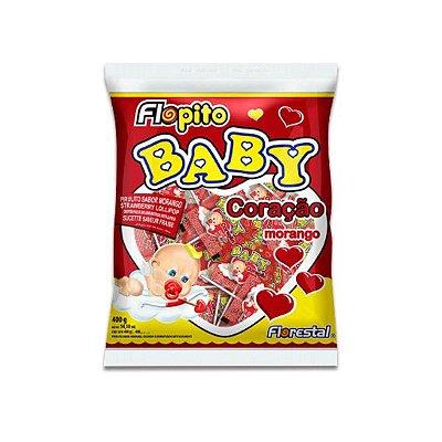 Pirulito Coração Baby Vermelho Florestal 200g (média de 50 pirulitos por pacote)