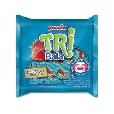 Bala Peccin TriBala Framboesa 500g