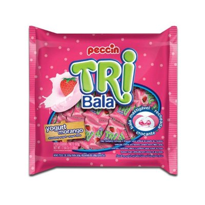Bala Peccin TriBala Iogurte Morango 500g