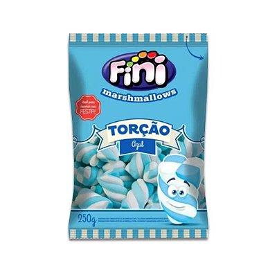 Marshmallow Fini Torção Azul e Branco 250g