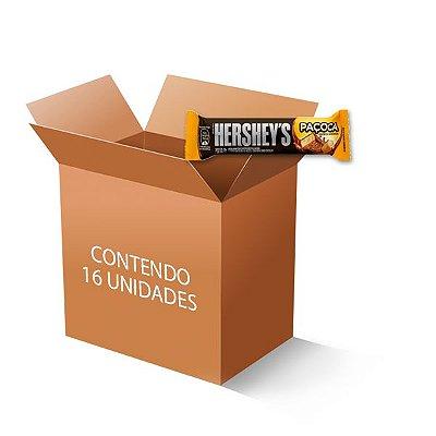 Paçoca Hershey´s coberta com Chocolate contendo 16 unidades de 25g cada