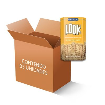 Tubetes Look Stick Doce de Leite Itamaraty contendo 5 caixinhas de 55g cada