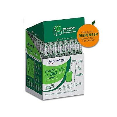 Canudo Biodegradável Comum Strawplast c/500