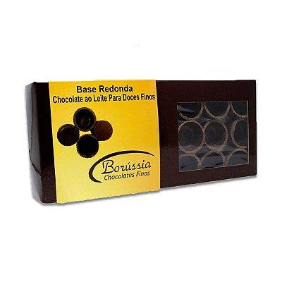 Copinho de Chocolate ao leite para Licor com protetor plástico Borussia contendo 24 unidades