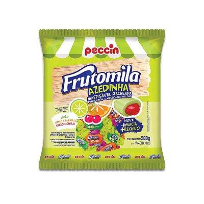 Bala Frutomila Azedinha Mastigável Recheada Sortida Peccin 500g