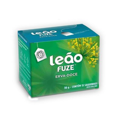 Chá de Erva Doce Envelopado Leão contendo 15 saquinhos