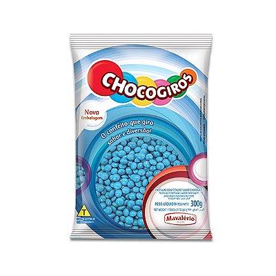 Chocogiros Pastilhas Confeitadas sabor Chocolate Azul Mavalério 300g
