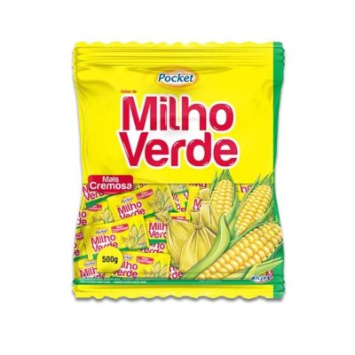 Bala Pocket Milho Verde Riclan 500g