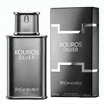 Kouros Silver Yves Saint Laurent - Perfume Masculino - Eau de Toilette
