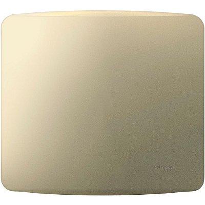 Placa Cega 4X4 com Suporte Miluz Dourada - S3B77403 - Schneider Electric